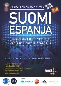 Suomi-Espanja 1.11. Energia Areenalla
