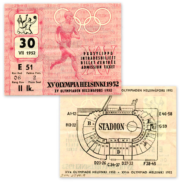 helsinki-1952-paasylippu-kasipallo